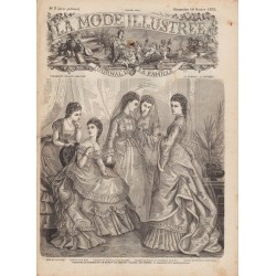 журнал мода La Mode Illustrée 1872 N°07