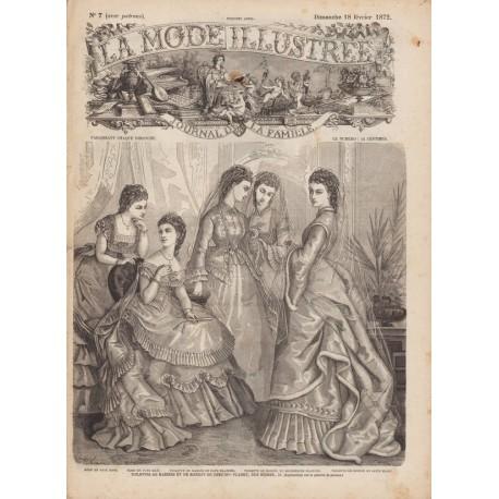 Complete magazine La Mode Illustrée 1872 N°07