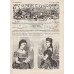 журнал мода La Mode Illustrée 1872 N°09