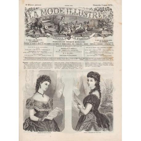 Revue complète de La Mode Illustrée 1872 N°09