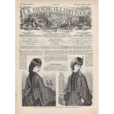 Complete magazine La Mode Illustrée 1872 N°05