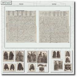 vykrojku La Mode Illustrée 1872 N°12