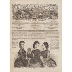Complete magazine La Mode Illustrée 1872 N°12