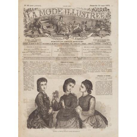журнал мода La Mode Illustrée 1872 N°12