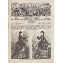 журнал мода La Mode Illustrée 1872 N°16