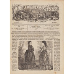 журнал мода La Mode Illustrée 1872 N°18