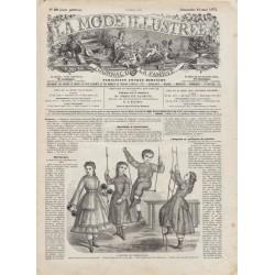 журнал мода La Mode Illustrée 1872 N°20