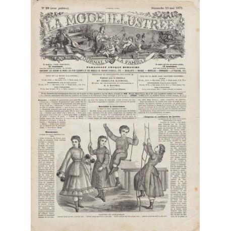 Complete magazine La Mode Illustrée 1872 N°20