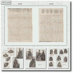 Sewing patterns La Mode Illustrée 1872 N°16