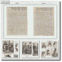 vykrojku La Mode Illustrée 1872 N°23