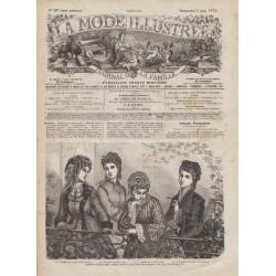 Complete magazine La Mode Illustrée 1872 N°23