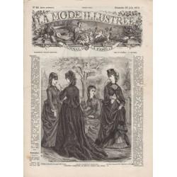 журнал мода La Mode Illustrée 1872 N°25