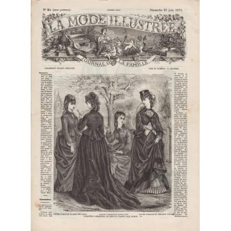 Complete magazine La Mode Illustrée 1872 N°25