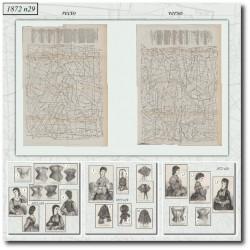 Sewing patterns La Mode Illustrée 1872 N°29