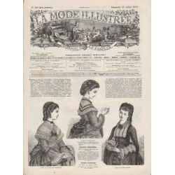 Complete magazine La Mode Illustrée 1872 N°29