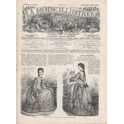журнал мода La Mode Illustrée 1872 N°27