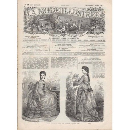 Complete magazine La Mode Illustrée 1872 N°27