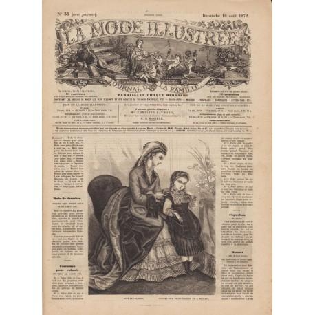 Complete magazine La Mode Illustrée 1872 N°33