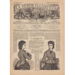 журнал мода La Mode Illustrée 1872 N°36
