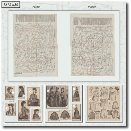Sewing patterns Victorian underwear 1872 N°36