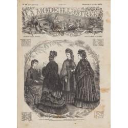 Complete magazine La Mode Illustrée 1872 N°40