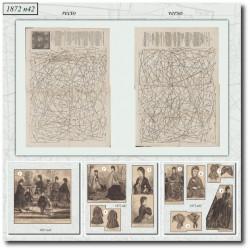 Patrons de corsage et robe de chambre 1872 N°42
