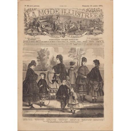 Complete magazine La Mode Illustrée 1872 N°42