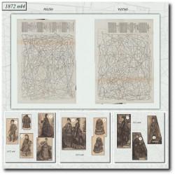 Patrons de La Mode Illustrée 1872 N°44