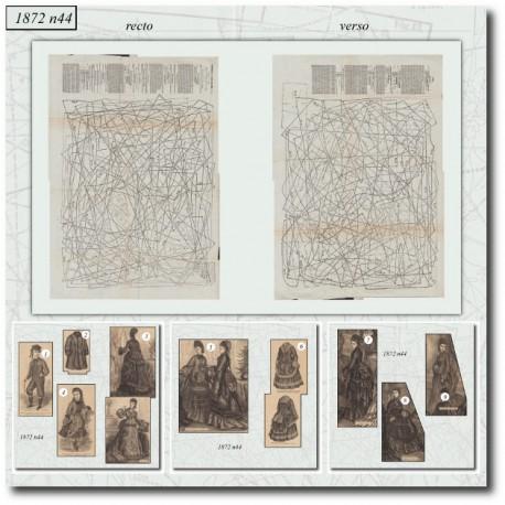 Patrons de costume et polonaise 1872 N°44