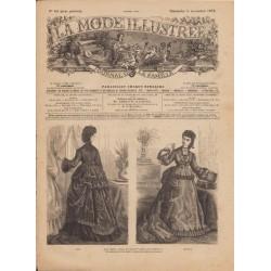Complete magazine La Mode Illustrée 1872 N°44
