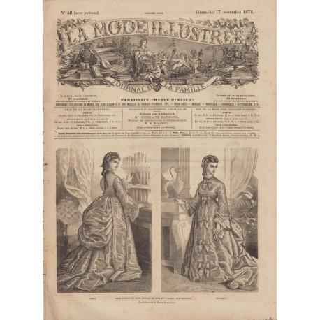 Complete magazine La Mode Illustrée 1872 N°46