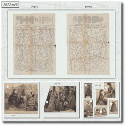 Patrons de La Mode Illustrée 1872 N°49