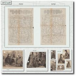 Sewing patterns La Mode Illustrée 1872 N°49