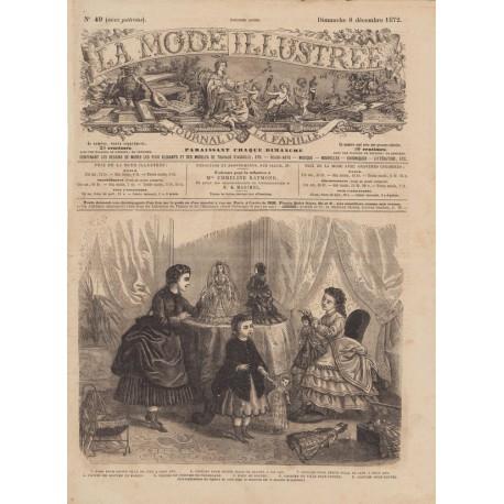 Complete magazine La Mode Illustrée 1872 N°49