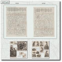 Sewing patterns La Mode Illustrée 1872 N°51