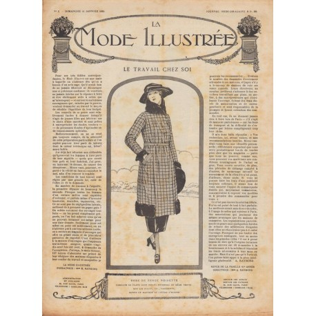 Revue complète de La Mode Illustrée 1920 N°02