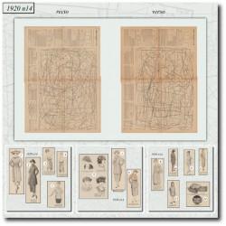 Sewing patterns Mode Illustrée 1920 14