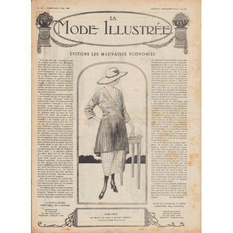 Complete magazine La Mode Illustrée 1920 N°18