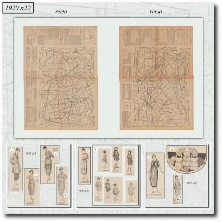 Sewing patterns Mode Illustrée 1920 22
