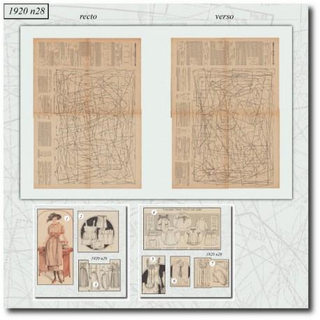 Sewing patterns Mode Illustrée 1920 28