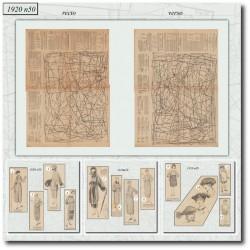 Sewing patterns Mode Illustrée 1920 50
