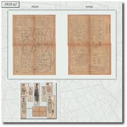 Sewing patterns La Mode Illustrée 1918 N°04