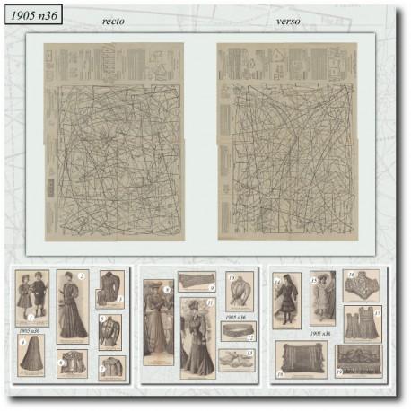 Sewing patterns La Mode Illustrée 1905 N°36