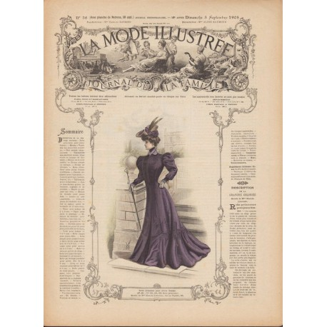 Complete magazine La Mode Illustrée 1905 N°36