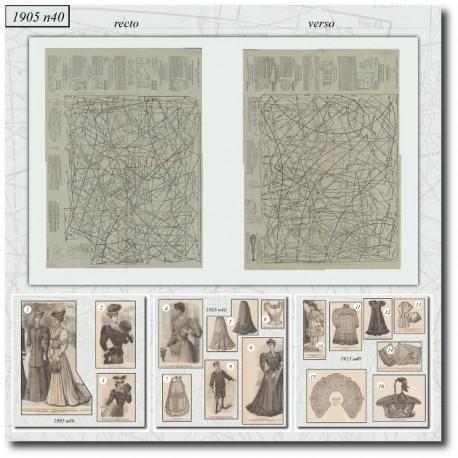 Sewing patterns La Mode Illustrée 1905 N°40