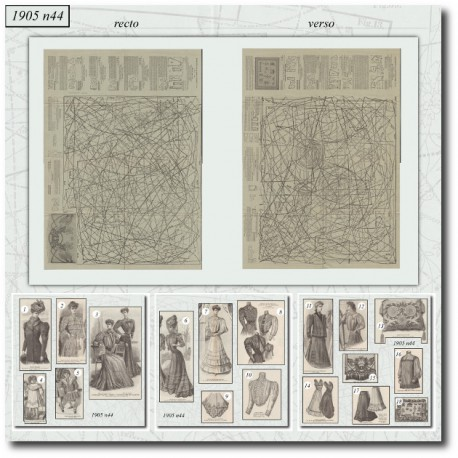 Patrons de La Mode Illustrée 1905 N°44