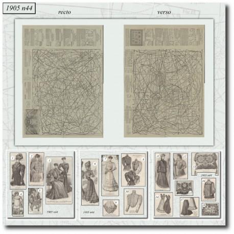 Sewing patterns La Mode Illustrée 1905 N°44