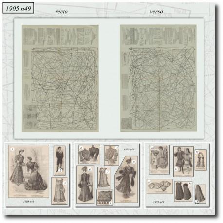 Patrons de La Mode Illustrée 1905 N°49