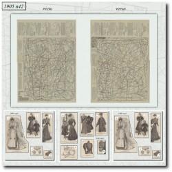 Patrons de La Mode Illustrée 1905 N°42