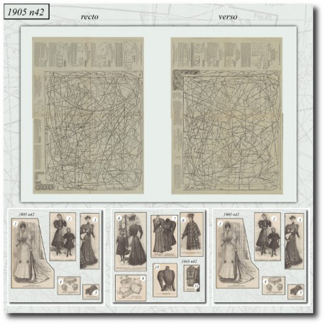 Sewing patterns La Mode Illustrée 1905 N°42